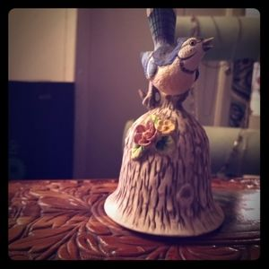 Hand carved & painted bell made of bone